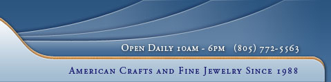 By the Bay Gallery is open daily and featuring American crafts and fine jewelry since 1988